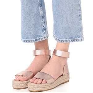 Splendid Rose Gold Flatform Espadrille Sandals NWT